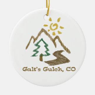 Galt's Gulch Colorado Atlas Shrugged Tree Ornament