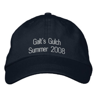 Galt's Gulch Embroidered Baseball Caps