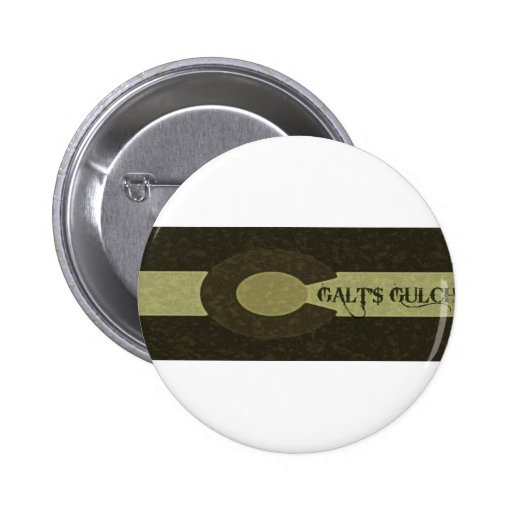 Galt's Gulch - Gray and Gold Combo Design Buttons