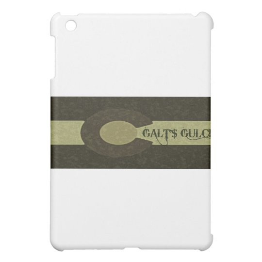 Galt's Gulch - Gray and Gold Combo Design iPad Mini Covers