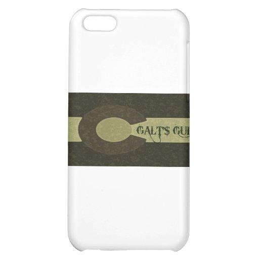 Galt's Gulch - Gray and Gold Combo Design Case For iPhone 5C