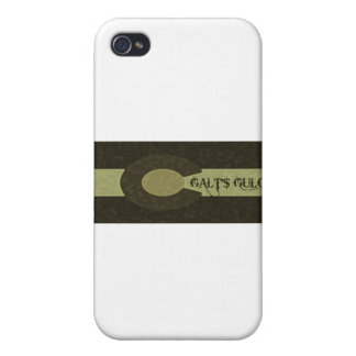 Galt's Gulch - Gray and Gold Combo Design Case For iPhone 4