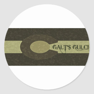 Galt's Gulch - Gray and Gold Combo Design Stickers