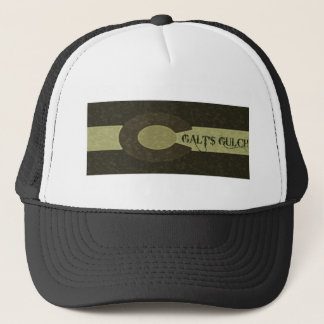 Galt's Gulch - Gray and Gold Combo Design Trucker Hat
