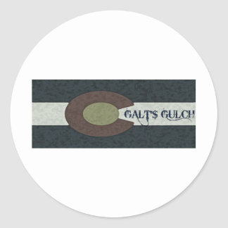 Galt's Gulch - Red White and Blue Combo Design Classic Round Sticker