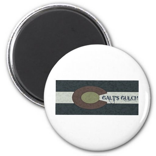 Galt's Gulch - Red White and Blue Combo Design Magnet