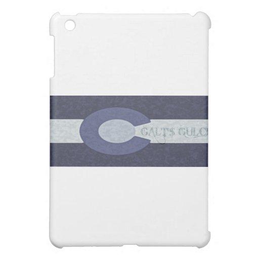 Galt's Gulch - Steel Blue Combo Design iPad Mini Covers