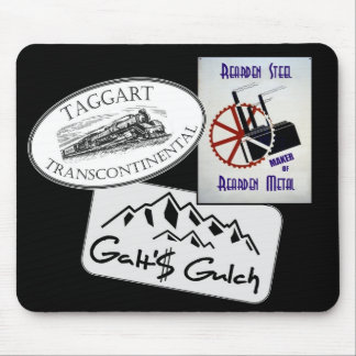 """Galt's Gulch"", ""Taggart Transco..."", ""Rearden..."" Mouse Pad"