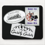 """Galt's Gulch"", ""Taggart Transco..."", ""Rearden..."" Mouse Pads"