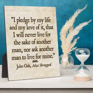 Galt's Pledge Plaque