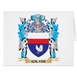 Galvan Coat of Arms - Family Crest Greeting Cards