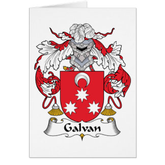 Galvan Family Crest Cards