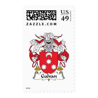 Galvan Family Crest Stamp