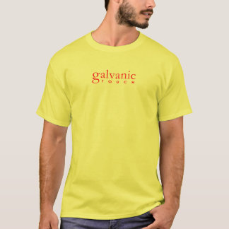 Galvanic Touch -Text Front Sun Back (Red) T-Shirt