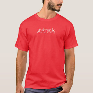 Galvanic Touch -Text Front Symbol Back (White) T-Shirt