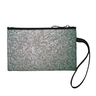 Galvanised Steel Plate Texture Coin Purse