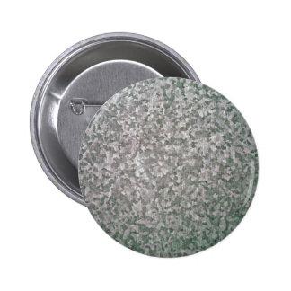 Galvanised Steel Plate Texture Pinback Button