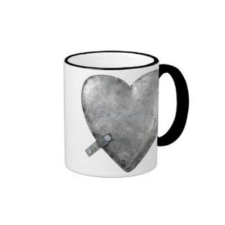 galvanized bolted heart ringer coffee mug