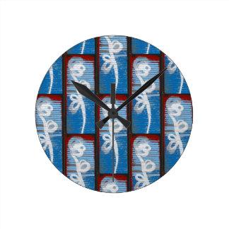 Galvanized Flowers Round Clocks