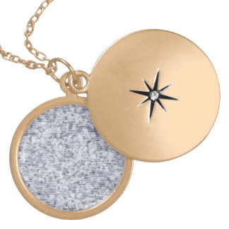 Galvanized Metal Tin Pattern Gold Plated Necklace