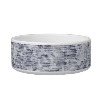 Galvanized Metal Tin Pattern Cat Food Bowls