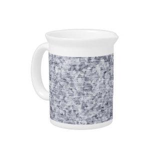 Galvanized Metal Tin Pattern Beverage Pitcher