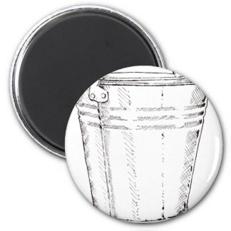 Galvanized Pail 2 Inch Round Magnet