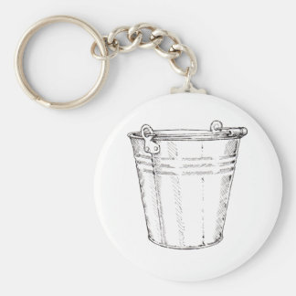 Galvanized Pail Keychain
