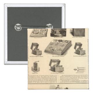 Galvano Faradic Manufacturing Company Bickford Pinback Button