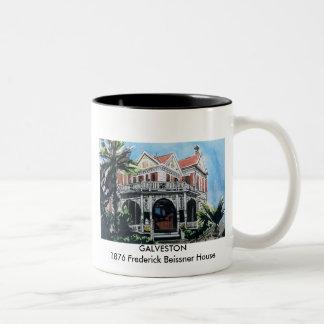 GALVESTON - 1876 casa de Frederick Beissner, GALV… Taza Dos Tonos