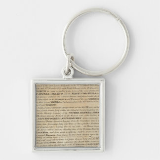 Galveston Bay and Texas Land Company Silver-Colored Square Keychain