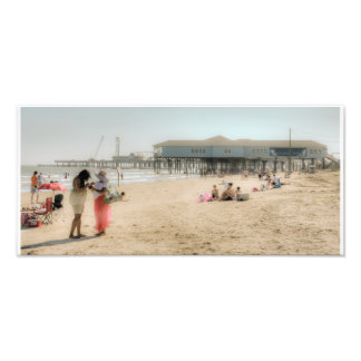 Galveston Beach Photo Print