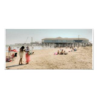 Galveston Beach Photographic Print