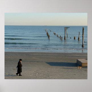 Galveston Beach post-Huricane Ike poster