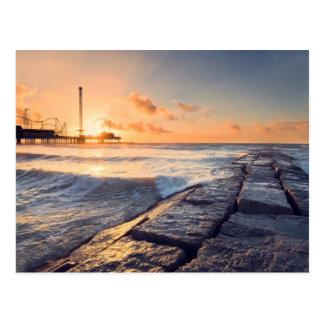 Galveston Beach Sunrise Postcard