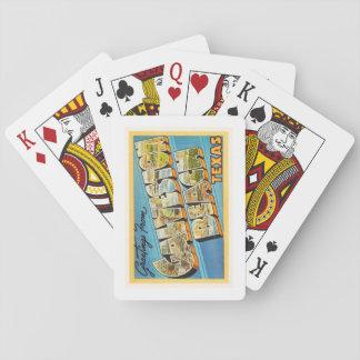 Galveston Beach Texas TX Vintage Travel Souvenir Card Decks