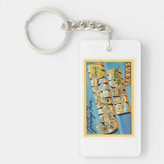 Galveston Beach Texas TX Vintage Travel Souvenir Single-Sided Rectangular Acrylic Keychain