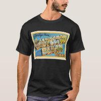 Galveston Beach Texas TX Vintage Travel Souvenir T-Shirt
