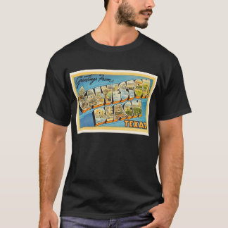 Galveston Beach Texas TX Vintage Travel Souvenir T-Shirt