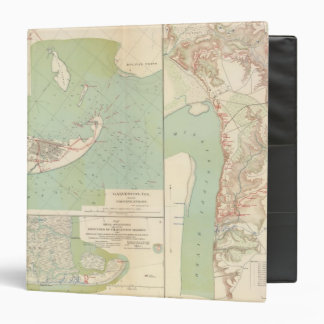 Galveston, Charleston Harbor, Port Hudson 3 Ring Binder