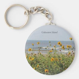 Galveston Island Beach Flowers Key Chain