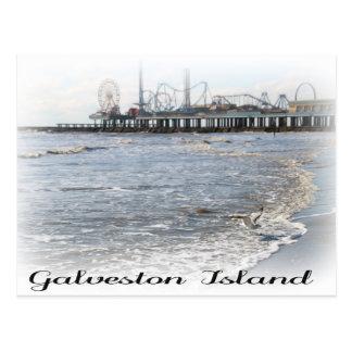 Galveston Island Pleasure Pier Postcard