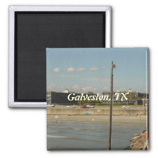 Galveston Island, Texas 2 Inch Square Magnet