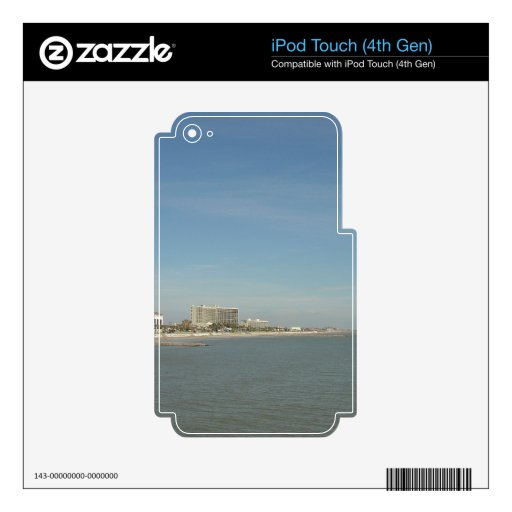 Galveston Island, Texas Decal For iPod Touch 4G