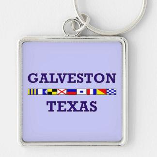 Galveston Nautical Flag - Keychain