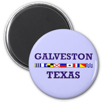 Galveston Nautical Flag - Magnet