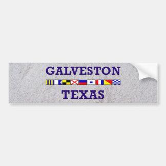 Galveston Nautical Flag - Sand Bumpersticker Bumper Sticker