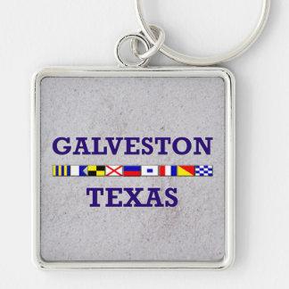 Galveston Nautical Flag - Sand Keychain