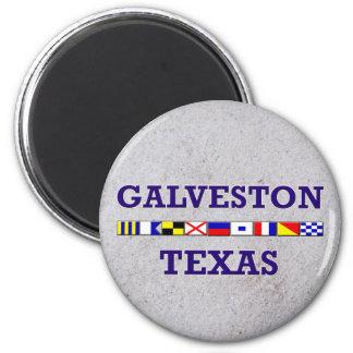 Galveston Nautical Flag - Sand Magnet
