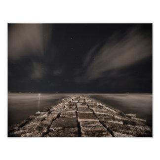Galveston Night Sky Photo Print